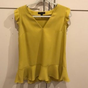 Yellow blouse from Banana Republic